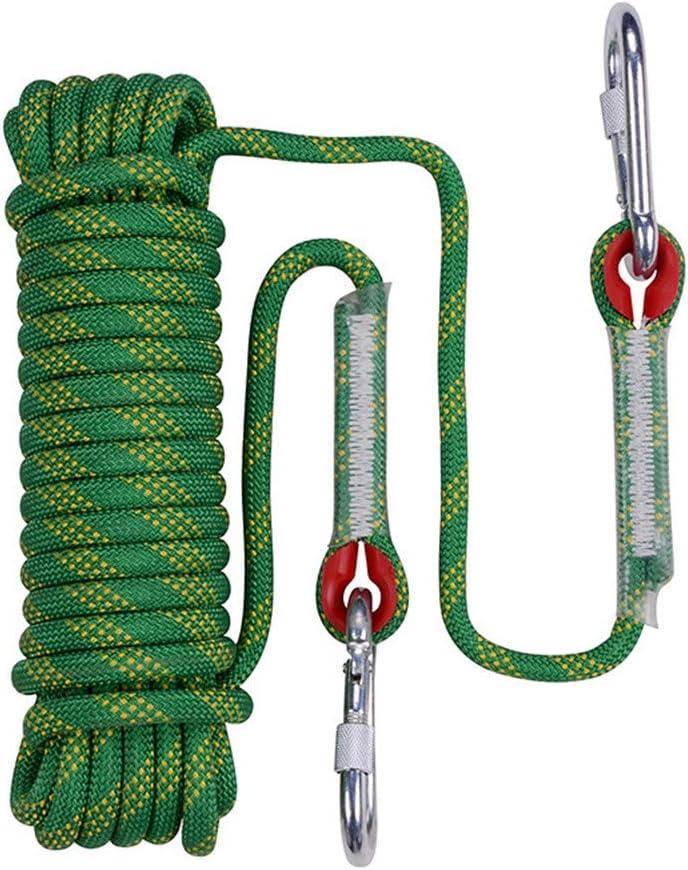 安全クライミングロープ、10 mmスタティックライフラインロープアウトドア緊急脱出ロープ多機能洗濯物用ハイキングケイビングキャンプエンジニアリングレスキュー用品,60m  60m