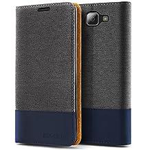 LG K4 2016 / Optimus Zone 3 Case, Evocel® [The Folio Series] 2-Tone Stylish Folio Case [Flip][Easy-Open] Seamless Magnetic Closure [Textured][Kickstand] Prop-Up Feature For LG K4 2016 / Optimus Zone 3 / LG Spree/ LG Spree , Charcoal