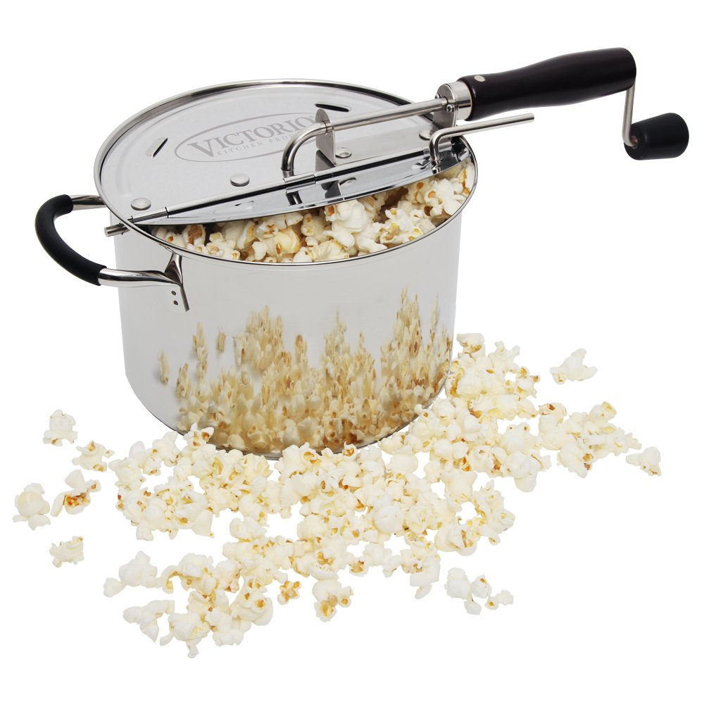 StovePop Stainless Steel Popcorn Popper by VICTORIO VKP1160 Victorio Kitchen Products