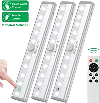 2 PC Wireless Peel and Stick LED Lights Home Lighting Wall Switch On Off