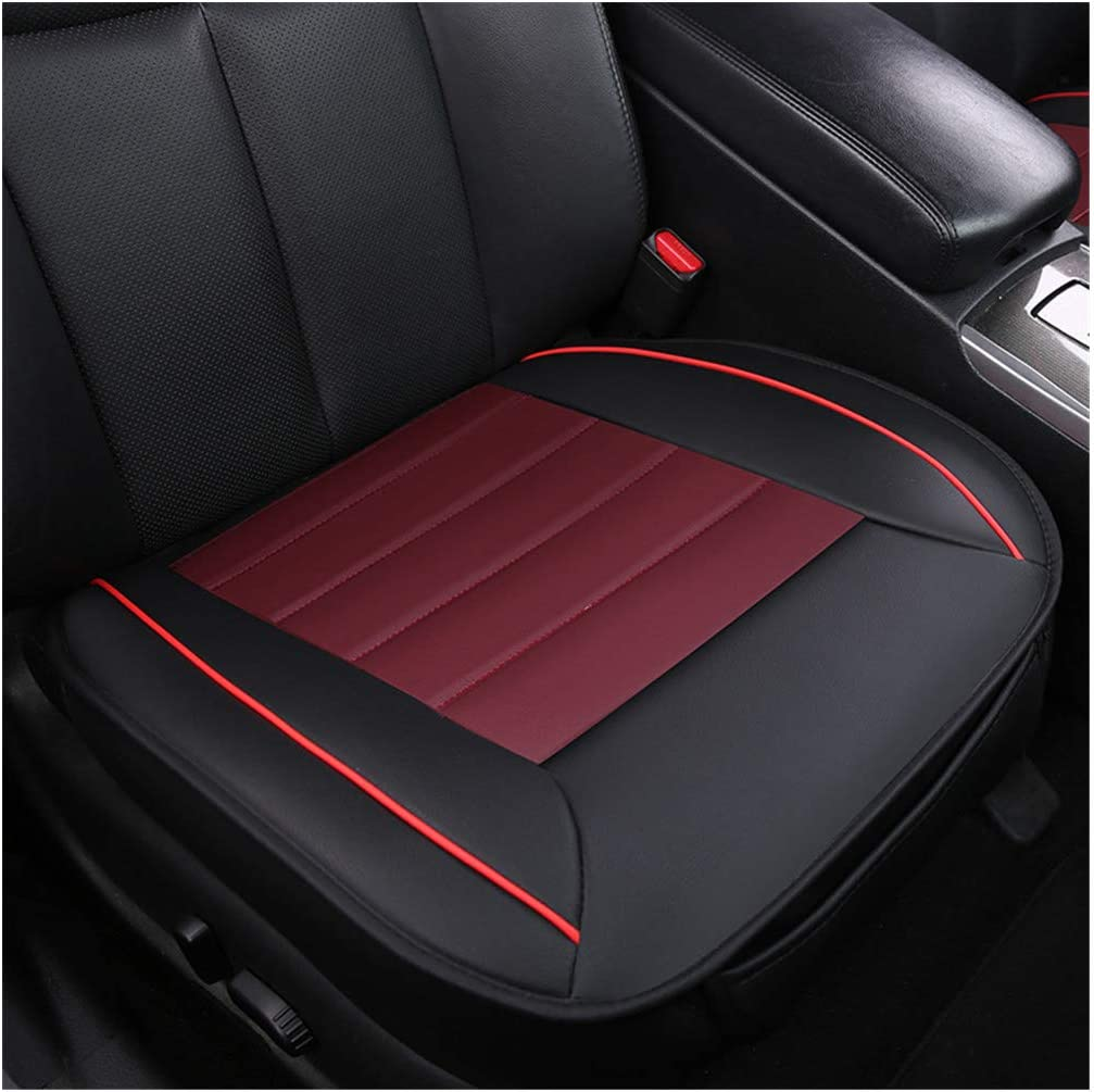 GUOCU Lusso Morbido Coprisedile per Auto Cuscino Tampone Stuoia Protettore per Forniture Automatiche,Nero,Sedile Anteriore