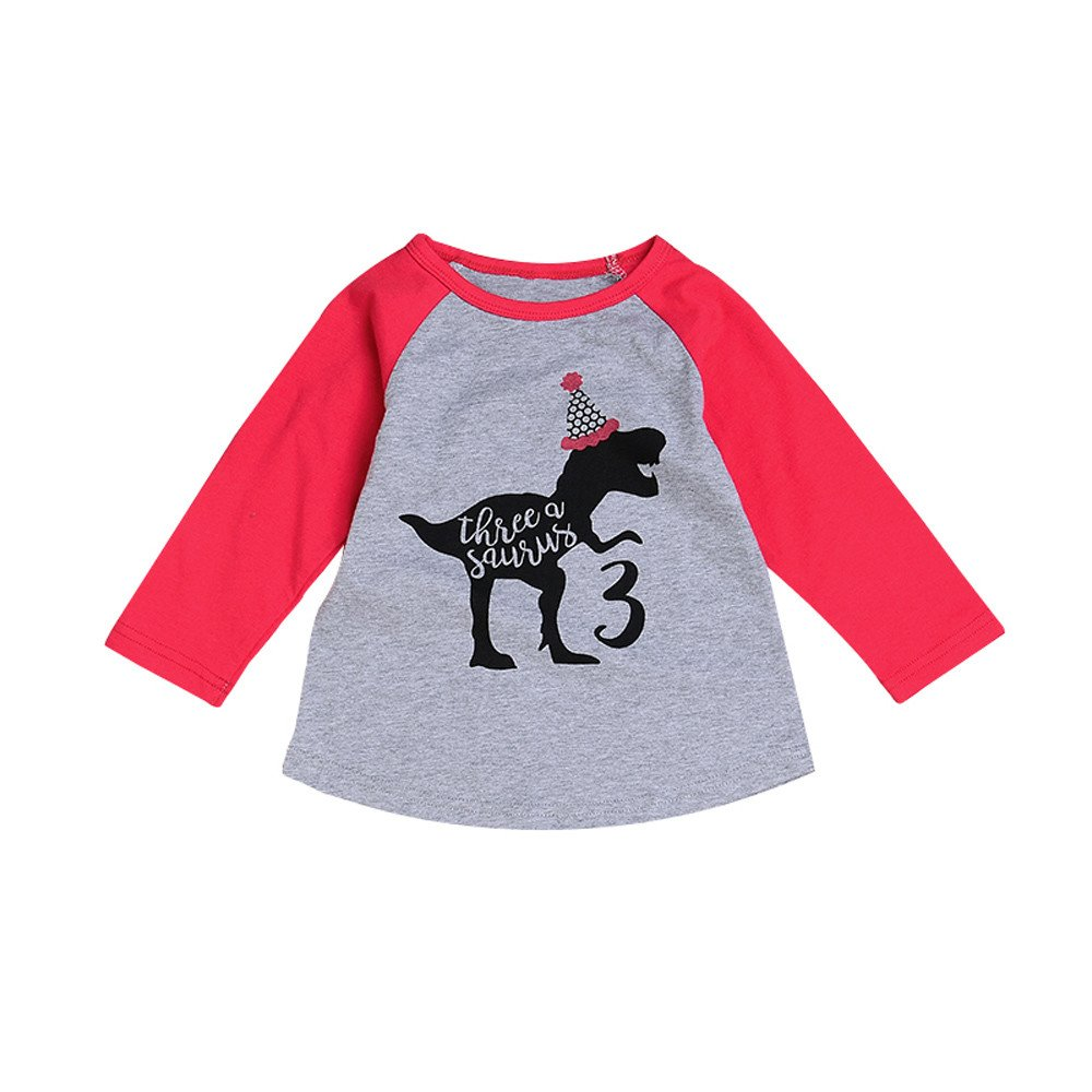 Zerototens Children Christmas T-Shirt,0-4 Years Old Toddler Baby Boys Girls Cartoon Deer Letter Print Long Sleeve Pullover Sweatshirt Blouse Tops Autumn Winter Casual Outfit