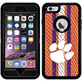 Clemson - Jersey design on Black OtterBox Defender Series Case for iPhone 6 Plus and iPhone 6s Plus