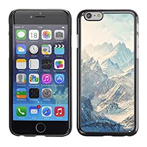 iBinBang / Funda Carcasa Cover Skin Case - Montañas Nieve Nubes Invierno Blanco - Apple iPhone 6