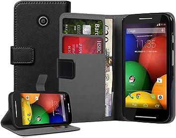Membrane - Negro Cartera Funda Compatible con Motorola Moto E ...
