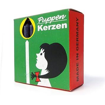 20 x 20 Stück Puppenlichter 20er Pack Puppenkerzen rot ca 10 x 65 mm
