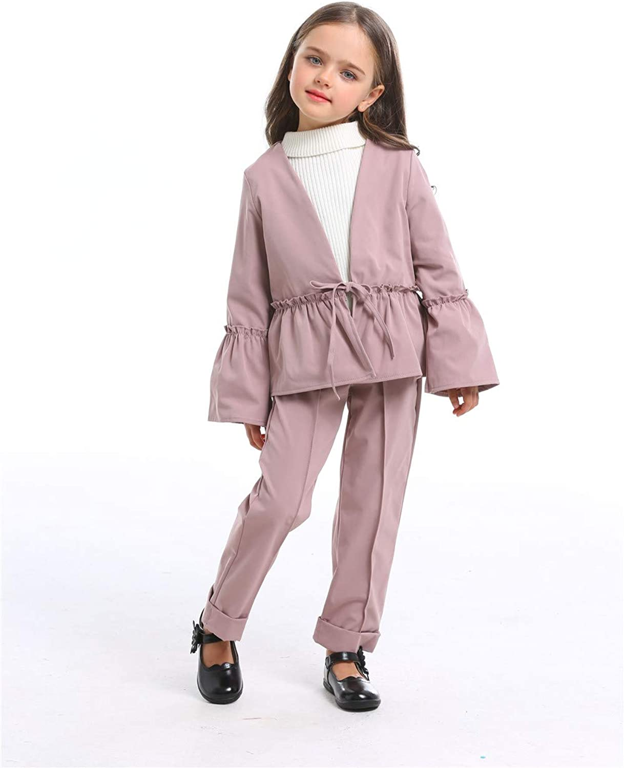 Little Girls 2 Pieces Set Halloween Outfit Long Sleeve Hoodie Top Pants Clothing