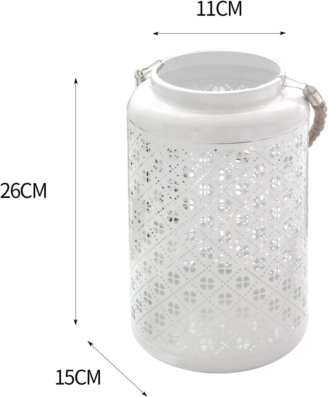WM Homebase Laterne aus Metall Gartenlaterne Tischlaterne Dekoration in Schwarz 26x15x11cm