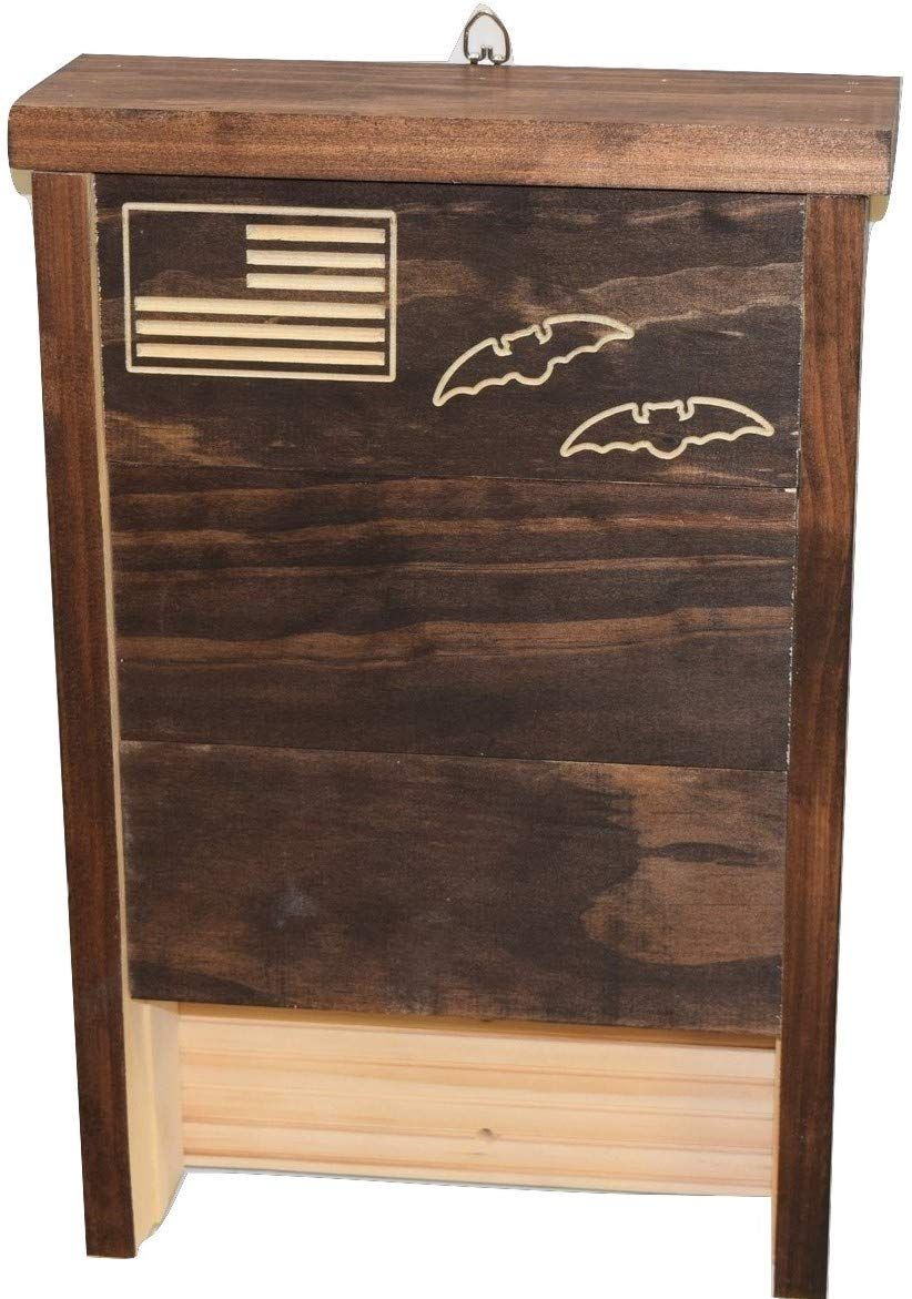 Premium Bat House | Made in USA | Pre-finished Select Pine | Ready to install | Ideal Bat Shelter for most U.S. climates | Environmentally Responsible Eco-Friendly Mosquito Control | Dark Pine by Applewood Outdoor