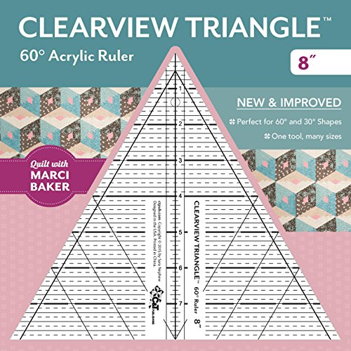(Clearview Triangle™ 60° Acrylic Ruler―8