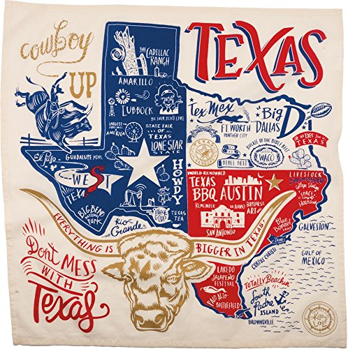 Super Texas Dish Towel