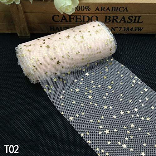 Viet JK Wedding Decorations - 8cm5m Soft Sequins Star Tulle Rolls Wedding Decoration Mariage Fabric Glitter Tulle DIY Craft Birthday Party Supplies