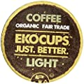 EKOCUPS Artisan Organic Coffee, Light Roast in, Recyclable Single Serve Cups for Keurig K-cup Brewers, 10 count