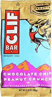 product image for Clif Bar, 2.4 Ounce - Organic Chocolate Chip Peanut Crunch (12 Pack)