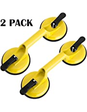 Suction Cup Lifter - 2 Pack Heavy Duty Suction Cup Aluminum Vacuum Plate Double Handle Professional Glass Holder Hooks Mover Puller Lifter Gripper for Moving Large Glasses Window Mirror Granite Repair Laminate Floor Gap Fixer