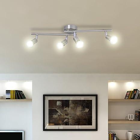 Anself 4 lámpara halógena de techo Foco Sistema techo ...