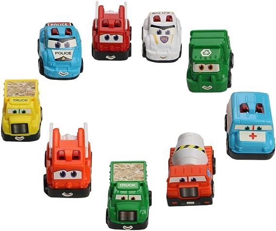 yoptote Mini Autos Spielzeug Kunststoff Pull Back Fahrzeuge