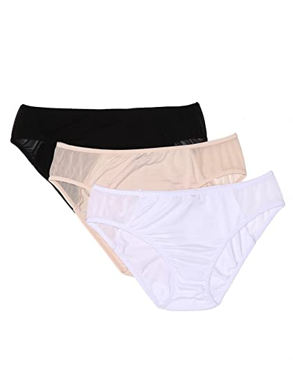 37ec989cd7cfe Luxilooks Womens Underwear Panties Cotton Bikini Brief 3 Pack S-XXL at  Amazon Women s Clothing store
