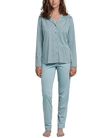 4135ea93ec401e Schiesser Damen Zweiteiliger Schlafanzug Pyjama Lang
