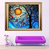 Faraway Van Gogh Dream Tree Diy Full diamond painting 5D embroidery Round Rhinestone Painting for Wall Decor 30cm X 41cm