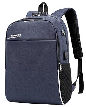 Mochila para Ordenador Portátil Mochilas de Hombre con USB Puerto de Carga para Viajes de Trabajo, Estudio, Gimnasio y Fin de Semana-20L azul: Amazon.es: ...