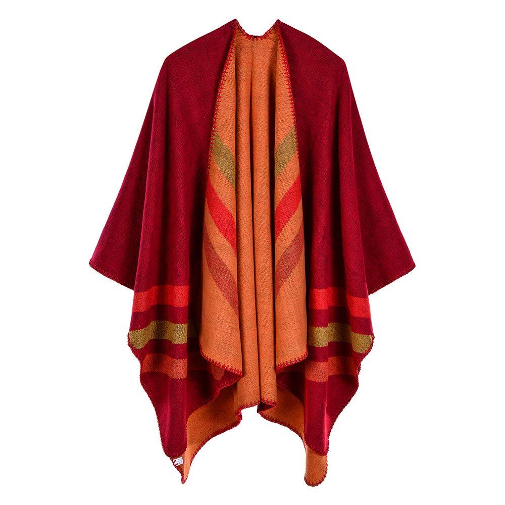 Zando Womens Winter Wrap Shawl Cozy Soft Open Front Blanket Coat Poncho Capes for Women W326