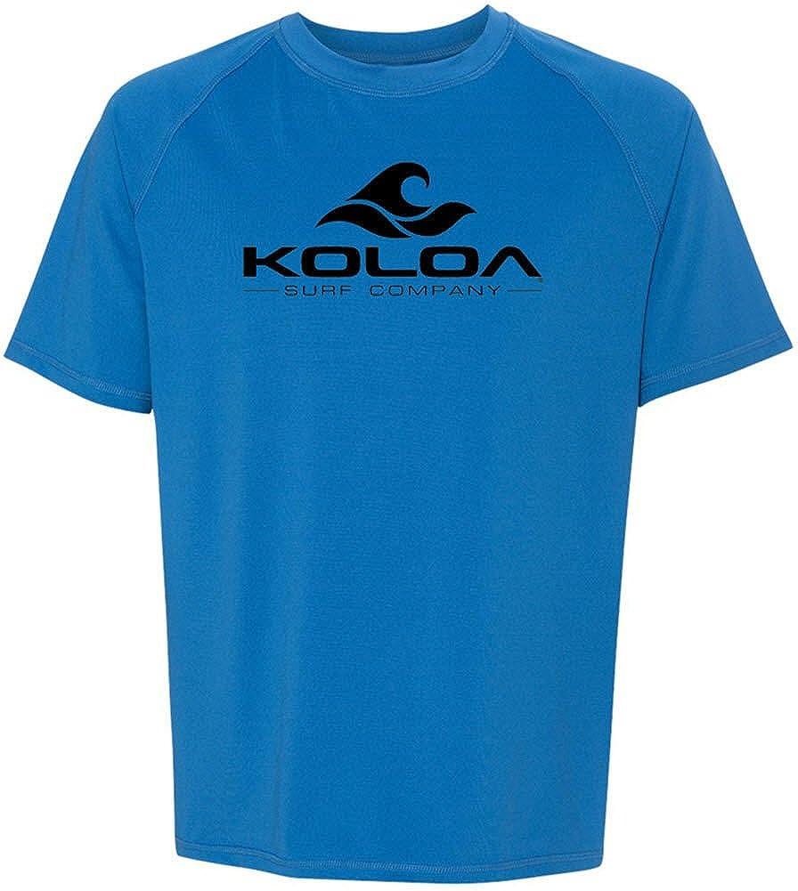 Koloa Surf Wave Logo Mens Solid Rashguard UPF 50 Swim Shirts