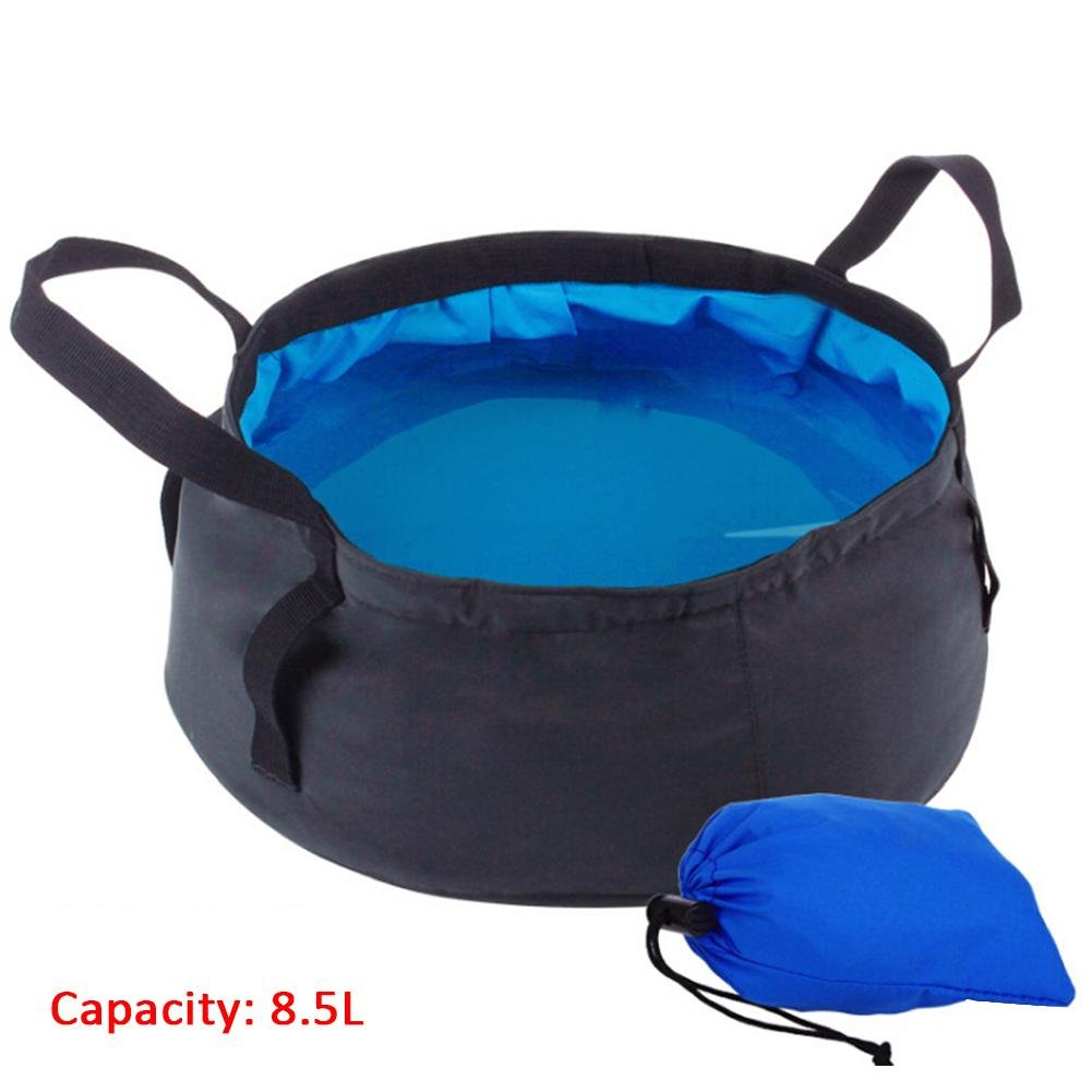 Dire-wolves 8.5L Folding 8.5L Water Bucket Outdoor Camping Water Container Foldable Collapsable Water Storage Lightweight Water Carrier For Camping Traveling Hiking Fishing