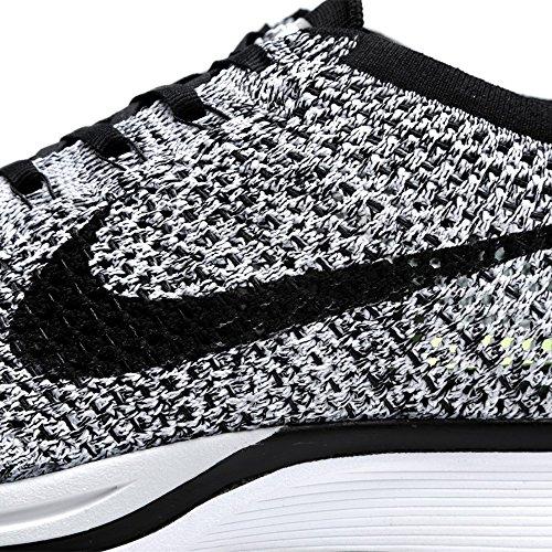 White Volt Flyknit Verde Zapatillas Nike Unisex de Black Negro Racer adultos deporte Blanco avxwqg7