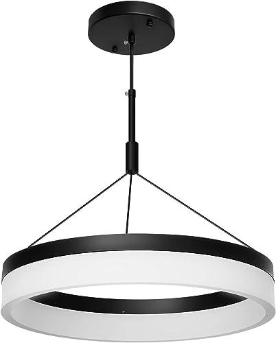 Modern Black LED Chandelier