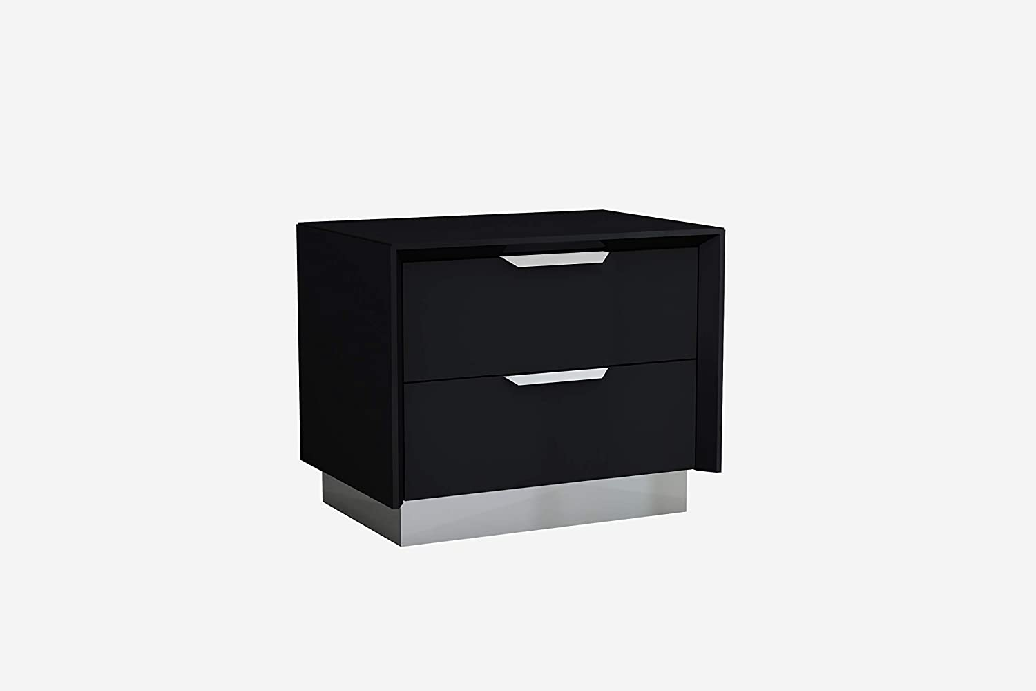 Whiteline Modern Living Navi Nightstand, Black