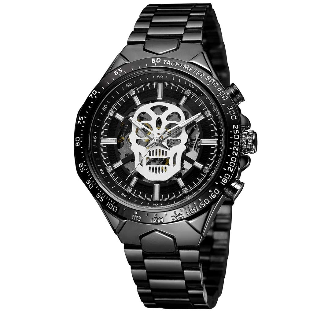 Hollow Demon Dial Luxury Design Business Fashion Men's MechanicalQuartz Casual Simple Chronograph Watch by CHLZYD