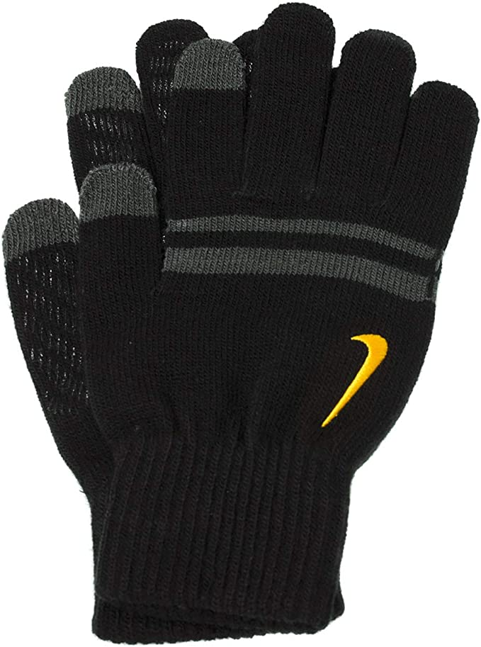 Nike Gloves Knitted Tech and Grip Mens Black & Grey