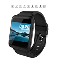 OPTA SB-047 O-Versa Bluetooth Fitness Band Smart Watch for Android, iOS Devices (Black)