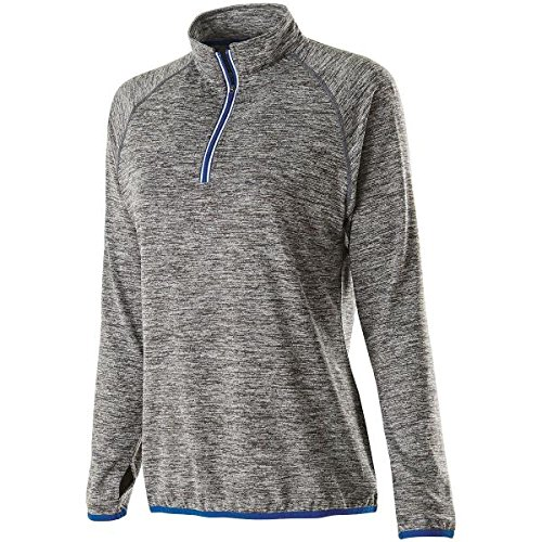 Holloway Sportswear WOMEN'S FORCE TRAINING TOP Women's L Carbon Heather/Royal by Holloway