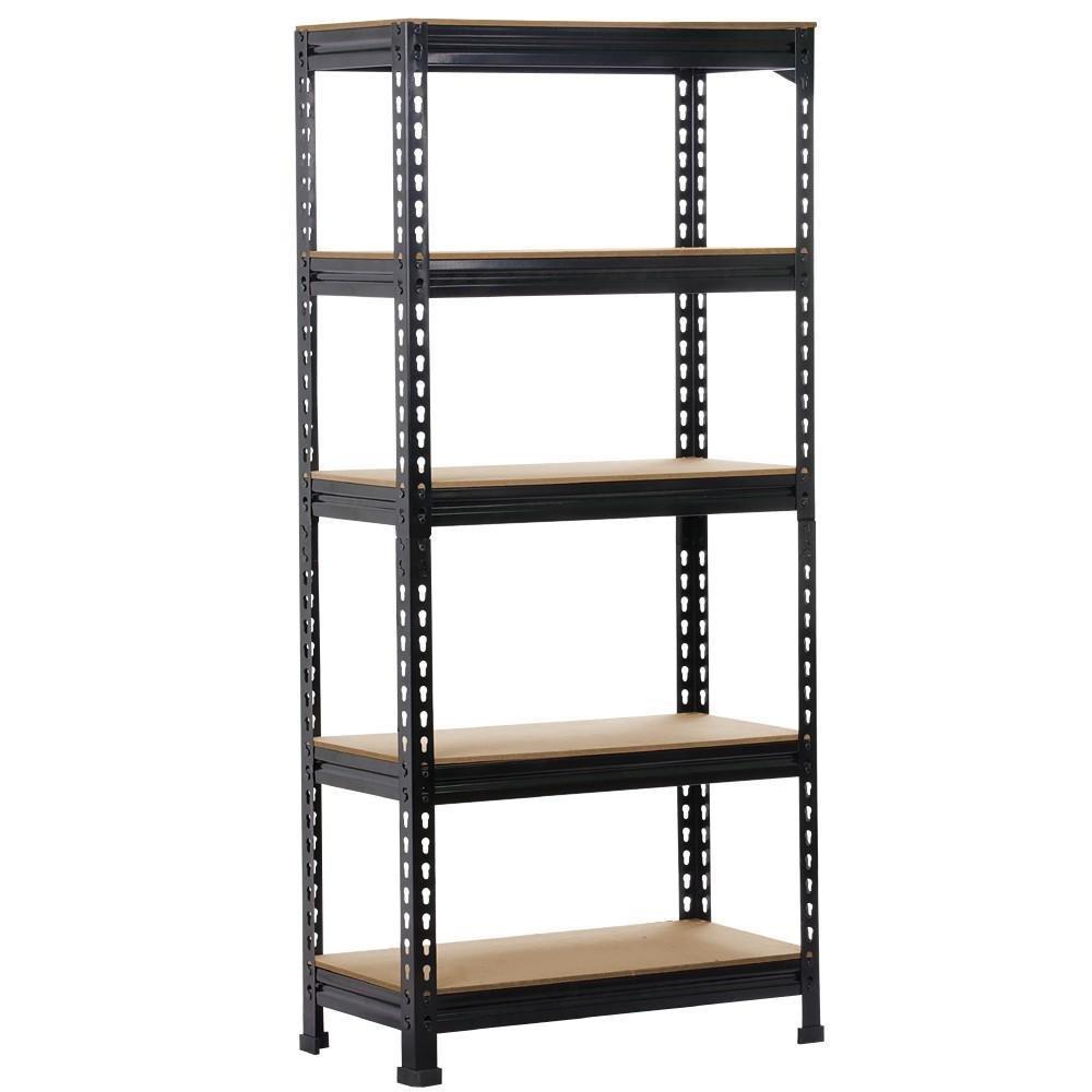 go2buy 5 Tier Storage Rack Heavy Duty Shelf Steel Shelving Unit 27 by 12 by 59.1'' Inch