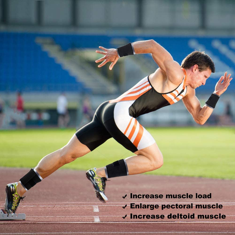 1kg 2kg 3kg DOBEN Handgewichte /& Fu/ßgewichte zum Joggen Gewichtsmanschetten Stahl Kn/öchelgewichte f/ür Hand- /& Fu/ßgelenke,Fu/ßgewichte Einstellbar