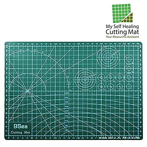 My Self Healing Cutting Mat   12x18 Inch with Self Healing Compound   Precise Measurement Marking   Double Sided Non-slip Rotary Mat   Quilting, Sewing, Arts, Crafts, Cutting, Scrapbooking Uses   - Magnetic Circle Cutter