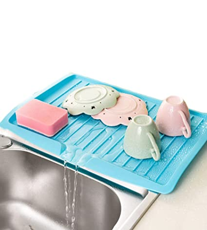 Amazon.com: Dish Drying Racks Wall Mounted Drain Board for Home ...