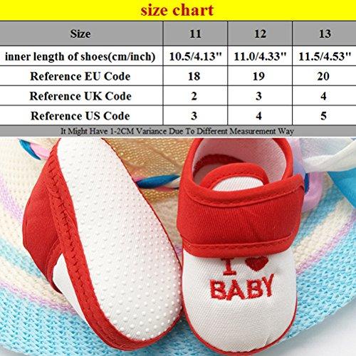 Zhhlinyuan Fashion Bebé Girls Boys Shoes Toddler Soft Sole Non-slip Shoes CX009 Pink