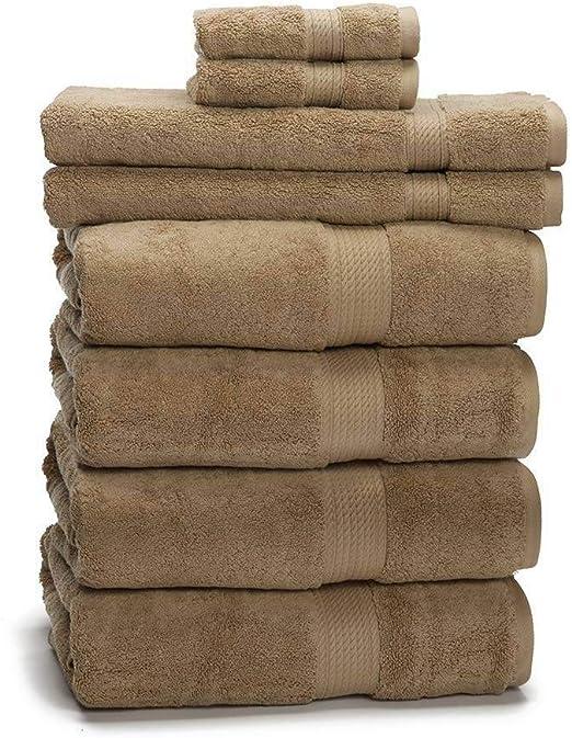 Juego de toallas de algodón egipcio de 900 g (6 piezas) – buen ...