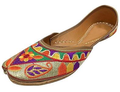 Step n Style Schritt N Style Frauen Flache Hausschuhe Sandalen kolhapuri Chappal Khussa Schuhe Indischen Jutis vkRXCij4