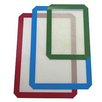Alfombrilla de silicona para hornear - Juego de 3(2Px16.5 x 11.5in+