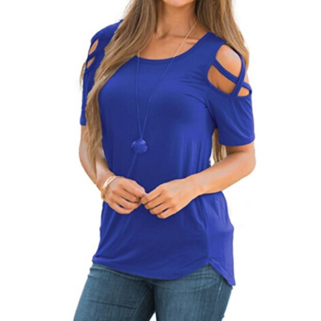 Ninasill SHIRT レディース US サイズ: Asian XXL = US XL カラー: マルチカラー B07CBC7HKW ブルー Asian XXL = US XL