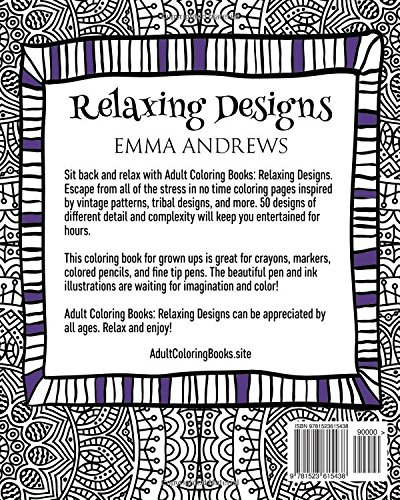 Adult Coloring Books: Relaxing Designs: Emma Andrews ...