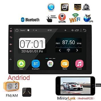 Amazon.com: GPS Navegación iPhone Mirrorlink MP5 coche radio ...