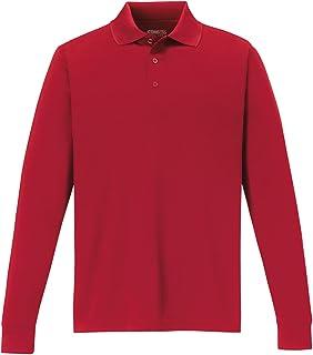 YIhujiuben Mens T-Shirt Long Sleeve Solid Color Lapel Leisure Regular Fit Polo Shirt