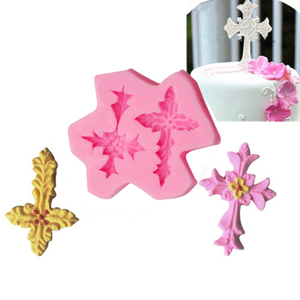 Gluckliy Cross Flower Shape Silicone Mould Fondant Sugarcraft Cake Decorating Tools Kitchen Accessories Bakeware Baking Accessories fangqiang