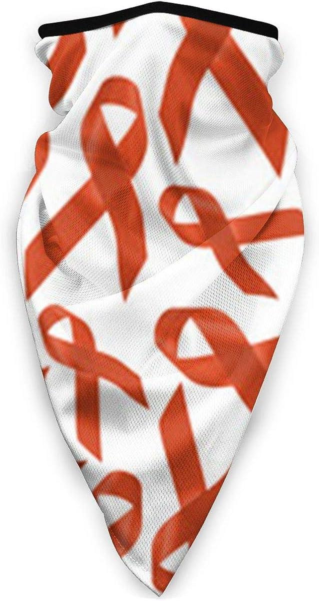 Funny Caps Leucemia Cancer Awarenes Pattern Versatile Multifunction Headwear Neck Gaiter Balaclava Helmet Liner Riding Face Cover para niños Mujeres Hombres al aire libre Protección UV