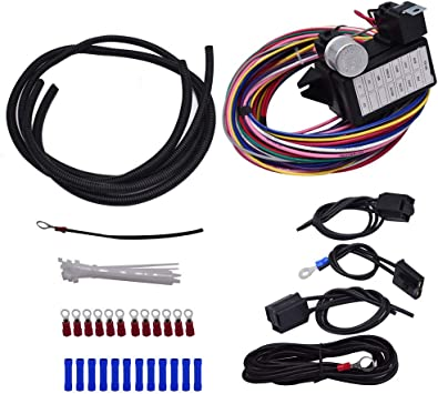 [DIAGRAM_3NM]  Amazon.com: labwork 12 Circuit Universal Wiring Harness Muscle Car Hot Rod  Street Rod XL Wires New: Automotive | 12 Circuit Universal Wiring Harness |  | Amazon.com